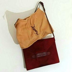 Vtg Yves St Laurent Bag 1970s w/ dustbag